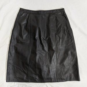 Genuine Leather pencil skirt Size 14